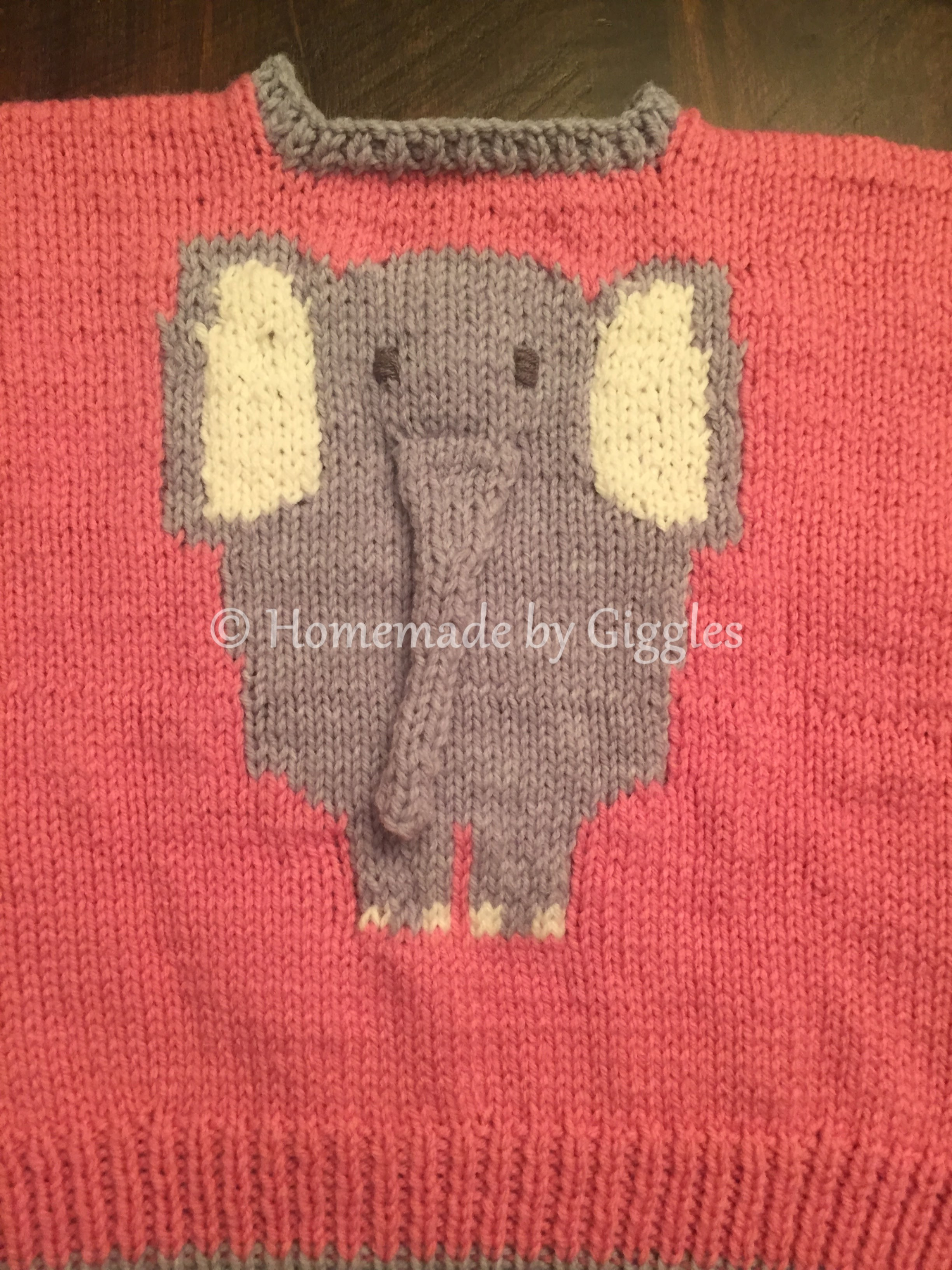 c4f1abe42fb6 Knit Elephant Sweater – Homemade by Giggles
